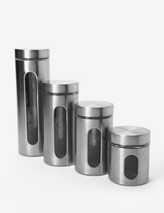 Anchor Hocking 4-pc. Brushed Stainless Steel Palladian Jars