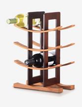 Anchor Hocking Bamboo Wine Rack