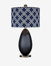 Dimond 25 Inch Navy Blue Glass Table Lamp