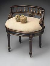 Butler Specialty Company Caf Noir Antique Vanity Seat