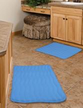 Lavish Home 2-pc. Blue Memory Foam Bath Mat Set