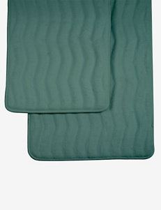 Lavish Home 2-pc. Green Memory Foam Bath Mat Set