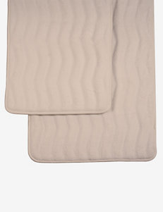 Lavish Home 2-pc. Ivory Memory Foam Bath Mat Set