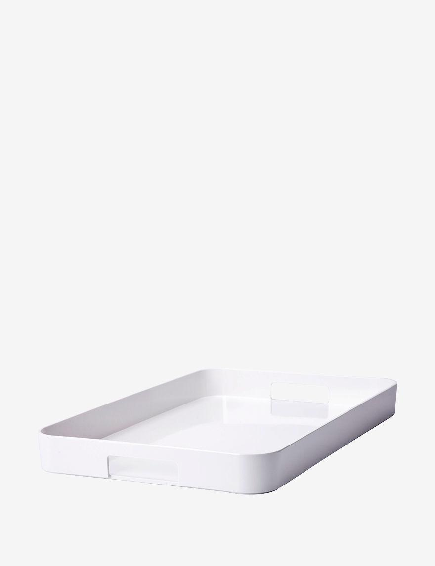 Zak Designs White Serving Platters & Trays Serveware