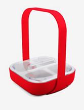Zak Designs Patented Caddy 4-Section Melamine Handle & Lid