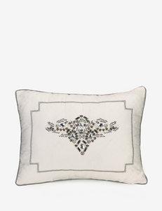 Jessica Simpson White / Grey Decorative Pillows