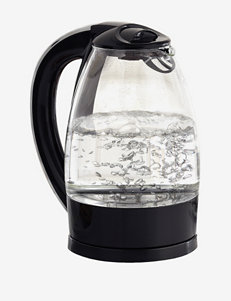 Bella 1.7 Liter Black Glass Kettle