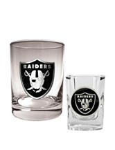 Oakland Raiders 2-pc. Rocks & Shot Glass Set