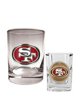 San Francisco 49ers 2-pc. Rocks & Shot Glass Set