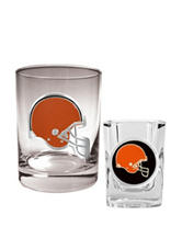 Cleveland Browns 2-pc. Rocks & Shot Glass Set