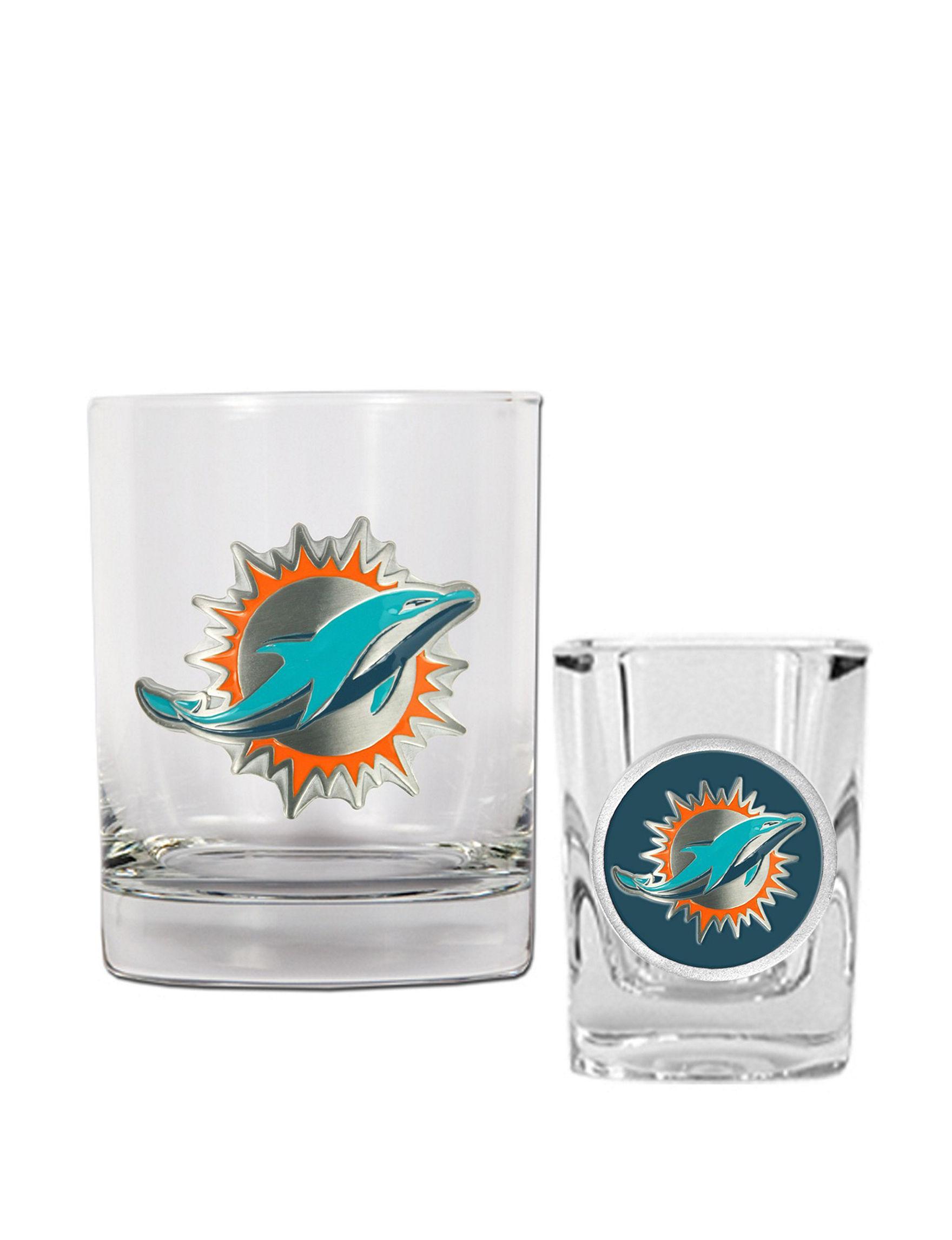 NFL Clear Cocktail & Liquor Glasses Drinkware Sets Drinkware NFL