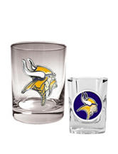 Minnesota Vikings 2-pc. Rocks & Shot Glass Set