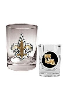 New Orleans Saints 2-pc. Rocks & Shot Glass Set