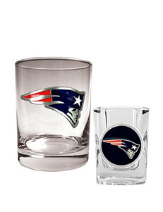 New England Patriots 2-pc. Rocks & Shot Glass Set