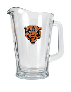 Chicago Bears Glass Beverage Pitcher