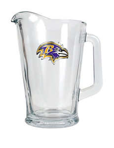 NFL Clear Pitchers & Punch Bowls
