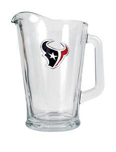Houston Texans Glass Beverage Pitcher