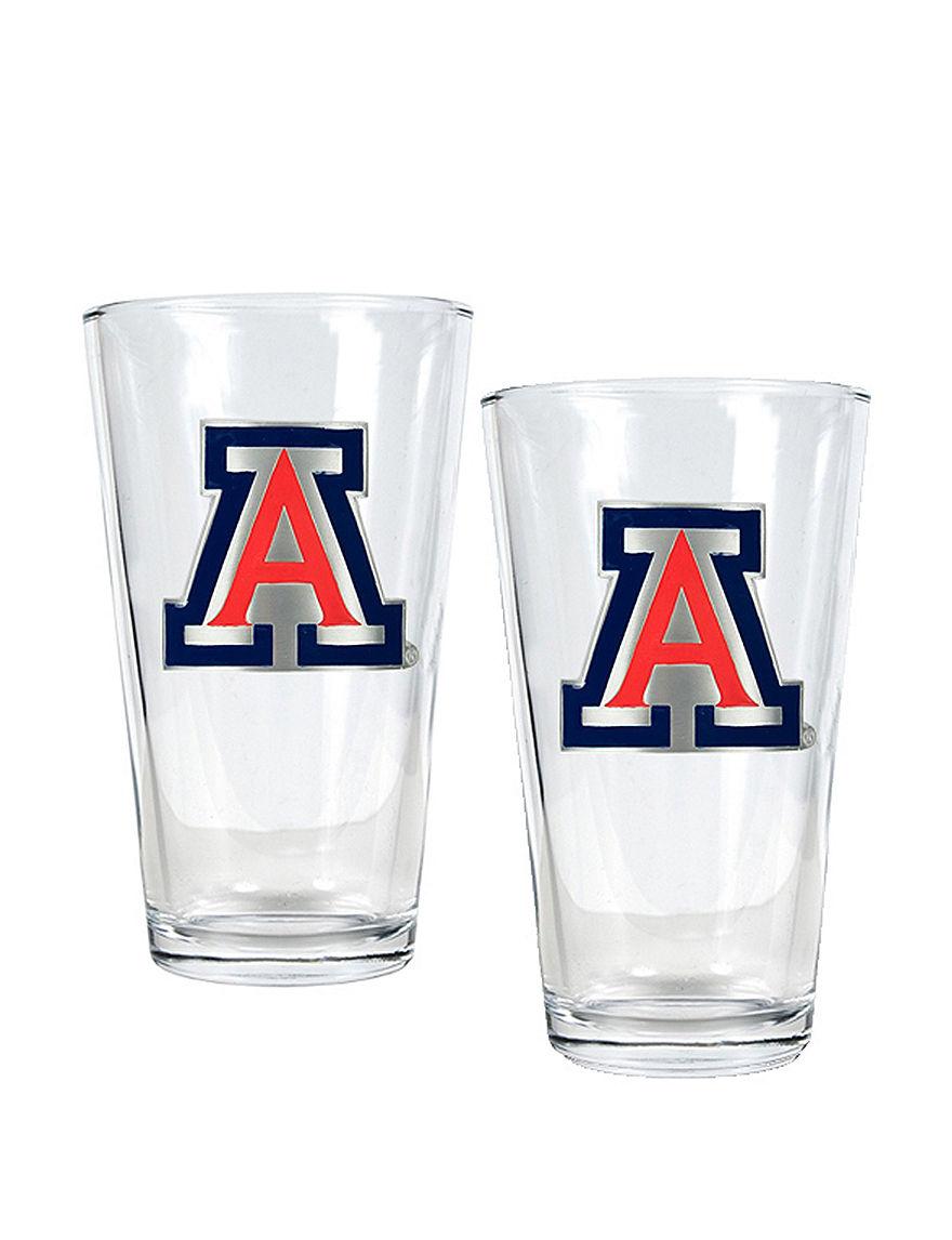 NCAA Clear Beer Glasses Drinkware Sets