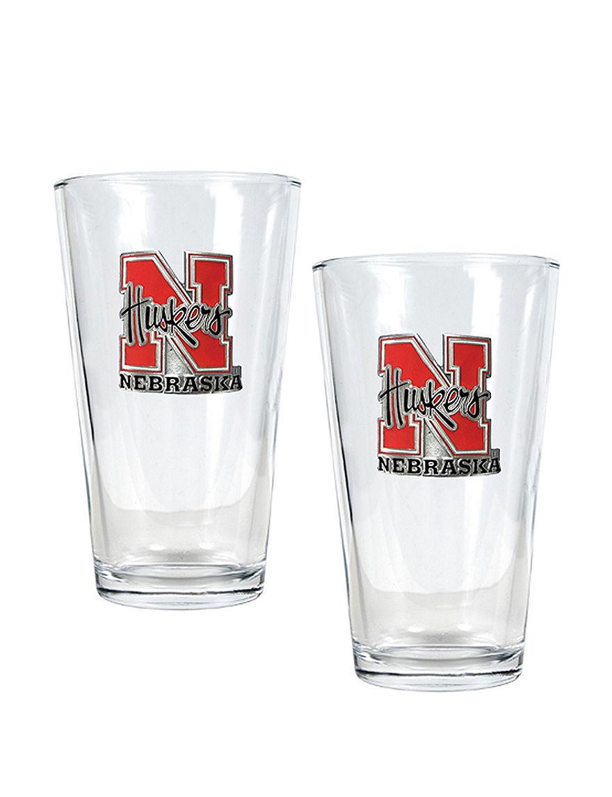 NCAA Clear Beer Glasses Drinkware Sets Drinkware NCAA