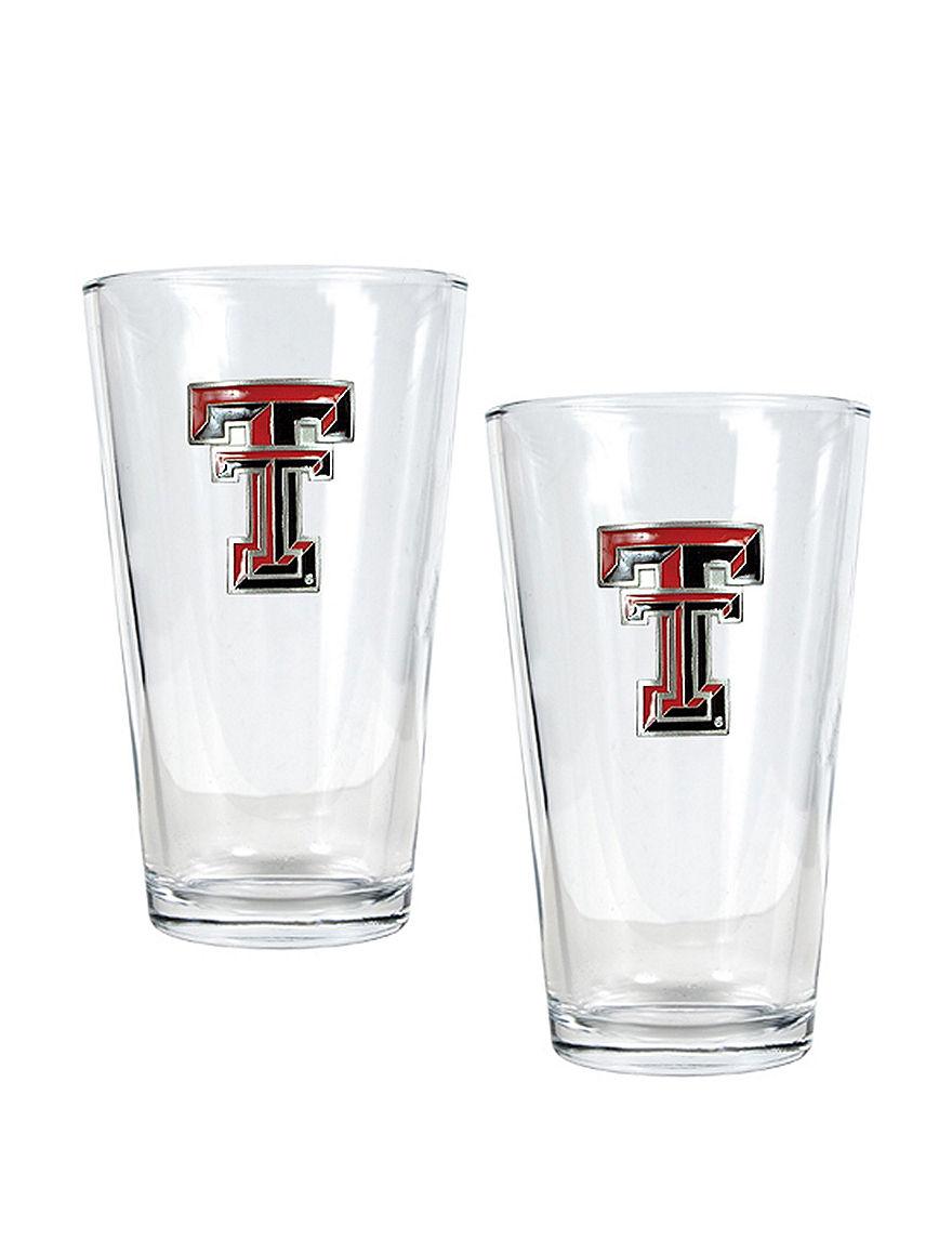 NCAA Clear Beer Glasses Drinkware Sets Everyday Cups & Glasses Drinkware NCAA