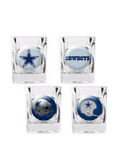 Dallas Cowboys 4-pc. Collectors Shot Glass Set