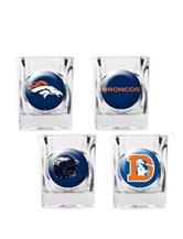 Denver Broncos 4-pc. Collectors Shot Glass Set