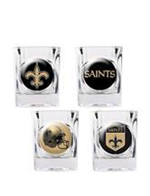 New Orleans Saints 4-pc. Collectors Shot Glass Set