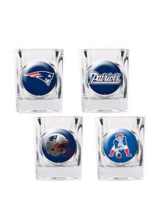New England Patriots 4-pc. Collectors Shot Glass Set