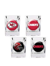 Kansas City Chiefs 4-pc. Collectors Shot Glass Set