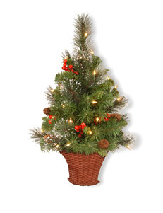 National Tree Company 3-ft. Crestwood Spruce Half Tree With White LED Lights