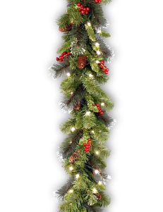 National Tree Company 9ft. Crestwood Spruce Garland WIth White LED Light