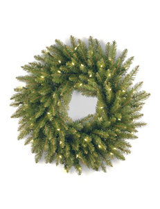 National Tree Company 24 Inch Dunhill Fir Wreath With Clear Lights