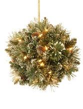 National Tree Company 12 Inch Glittery Bristle Pine Kissing Ball