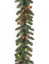 National Tree Company 9ft. Kincaid Spruce Garland With Multicolor Lights