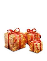 National Tree Company Pre Lit Gold Sisal Gift Box Assortment
