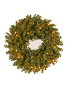National Tree Company 24 Inch Norwood Fir Wreath With Clear Lights