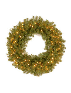 National Tree Company 30 Inch Norwood Fir Wreath With Clear Lights