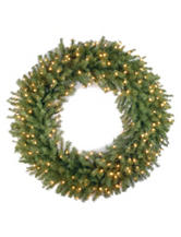 National Tree Company  42 inch Fir Wreath With Clear Lights