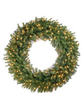 National Tree Company 48 Inch Norwood Fir Wreath With Clear Lights