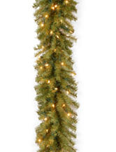 National Tree Company 9 ft. Norwood Fir Garland WIth Clear Lights