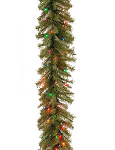 National Tree Company 9 ft. Norwood Fir Garland WIth Multicolor Lights