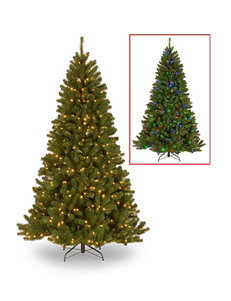 National Tree Company 7.5-ft. North Valley Spruce Tree with Dual Color LED Lights