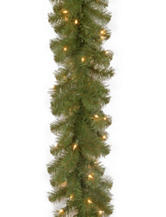 National Tree Company 9ft. North Valley Spruce Garland With Clear Lights