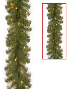 National Tree Company 9ft. North Valley Spruce Garland With Dual Color LED Lights