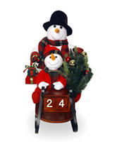 National Tree Company 28 Inch Plush Collection Snowmen On Sleigh