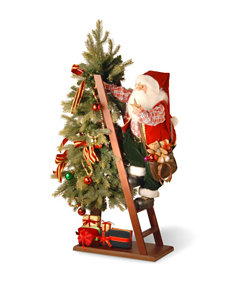 National Tree Company 42 Inch Plush Collection Santa & Tree With Lights
