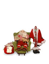 National Tree Company 16 Inch Plush Collection Sitting Santa With Coat Rack