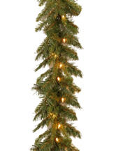 National Tree Company 9ft. Tiffany Garland With Clear Lights