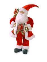 National Tree Company 18 Inch Plush Collection Traditional Santa