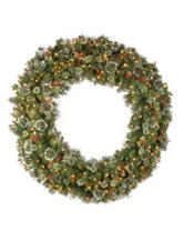 National Tree Company 60 Inch Wintry Pine Wreath With Clear Lights